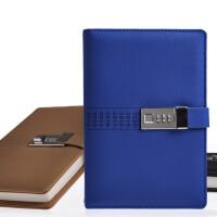 卡杰A5创意商务密码本带锁日记本韩国手账文具笔记本复古记事本子