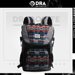 【支持礼品卡支付】DRACONITE潮牌英伦男女民族风书包帆布包背包复古双肩包11152