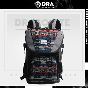 DRACONITE潮牌英伦男女民族风书包帆布包背包复古双肩包11152