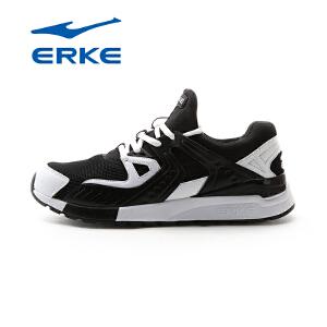 鸿星尔克男鞋跑步鞋男夏季黑武士运动鞋复古跑鞋网面透气休闲鞋旅游鞋