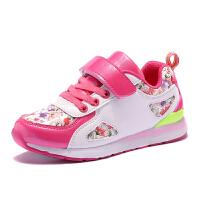 哈比熊儿童童运动鞋2017春秋季女童中大童鞋子休闲鞋跑步鞋网鞋
