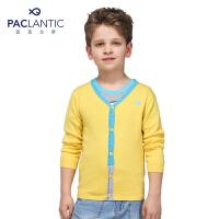 派克兰帝品牌童装 男童中小童 春装撞色V领针织开衫  儿童 针织衫 外套