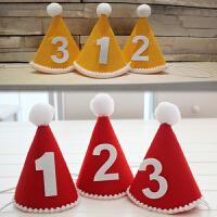 韩版儿童宝宝周岁生日派对帽子派对用品 数字 生日帽