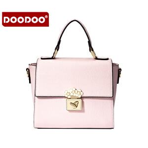 DOODOO 2017新款冬季时尚女包包包日韩潮流手提包百搭小方包单肩斜跨女士包包 D6009