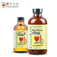 美国CHILDLIFE23种维生素+VC活力液 儿童多种复合维生素C 补锌补铁