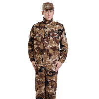户外数码迷彩服军训服学生军迷俱乐部服装荒漠迷彩训练服套装特种兵作训服耐磨户外迷彩套装