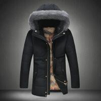 冬季棉衣男士中长款外套棉服加厚韩版修身连帽青年大码棉袄潮男装