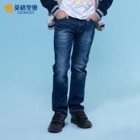 2017新款童装男童春装长裤中大童儿童纯棉单裤男孩弹力水洗牛仔裤