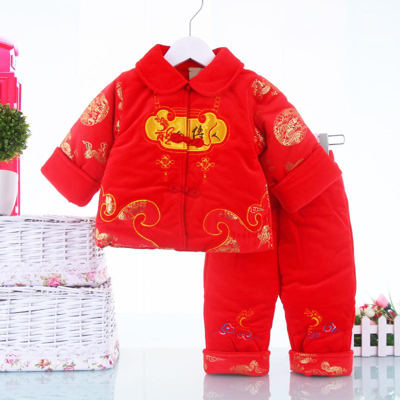 男童装宝宝唐装 儿童衣服冬季加厚棉服男宝宝棉袄