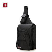 瑞士军刀10寸IPAD胸包时尚休闲斜挎包 单肩包潮SA-0808黑色