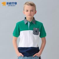 英格里奥童装夏装男童短袖T恤儿童T恤夏装polo衫LLB9415