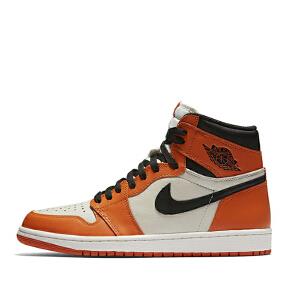 NIKE/耐克AIR JORDAN 1 AJ1 男子篮球鞋运动鞋高帮板鞋飞人555088-113白扣碎