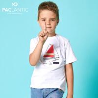 派克兰帝品牌童装 夏装男童户外休闲短袖T恤 男童夏季短T