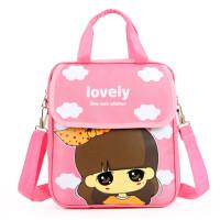 韩版儿童书包小学生女童手提袋补习花花姑娘补课包单肩双肩斜跨包