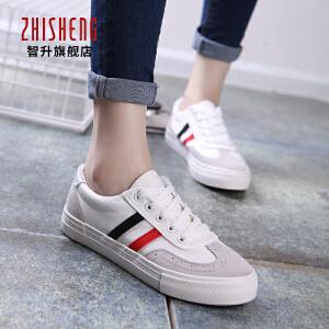 韩版2016秋季低帮女鞋小白鞋女平跟学生单鞋系带帆布鞋运动板鞋潮