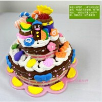 卡乐淘巧克力蛋糕超粘土diy彩泥模具套装3d橡皮泥儿童玩具儿童diy粘土C-CMC01 送小朋友礼物