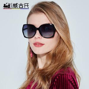威古氏新款太阳镜女 镂空花纹墨镜时尚女潮偏光太阳镜9086