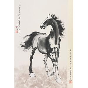 徐悲鸿(款) 立马图 附出版物