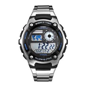 卡西欧(CASIO) 指针系列男士手表户外防水运动电子男士手表AE-2100W-1A/AE-2100WD-1A