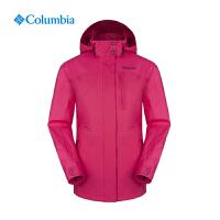 【领卷满400减100】Columbia/哥伦比亚户外女款防水透气抓绒内胆三合一冲锋衣PL7043