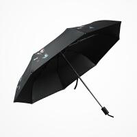 红叶新品创意蝴蝶遮阳伞黑胶防晒防紫外线太阳伞女折叠伞
