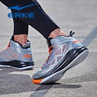 鸿星尔克男鞋运动鞋新款减震耐磨比赛战靴高帮篮球鞋男