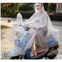 男女加大摩托车头盔式成人透明 电动车雨衣单人电瓶车雨披