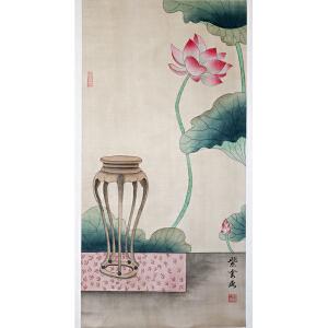 实力派工笔画画家,北京天坛书画院理事紫云《长物绘之一》