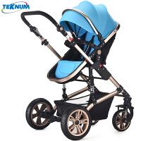 婴儿推车高景观可坐躺新生儿折叠四轮避震宝宝手推儿童伞车