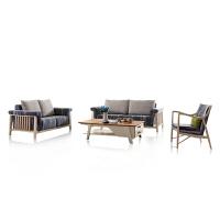 御品工匠 北欧简约 橡木全实木 沙发 可拆洗布艺休闲 沙发组合 B06沙发