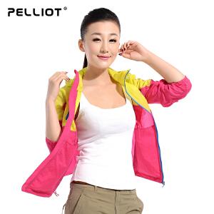 【第二件半价】法国PELLIOT/伯希和 户外皮肤衣男女 防晒衣透气防 情侣皮肤风衣外套
