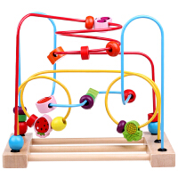 卡通绕珠玩具 智力拖车绕珠 串珠 宝宝婴儿童益智玩具0-1-2-3岁