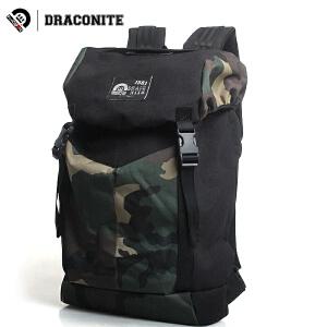 DRACONITE男女英伦潮大中学生迷彩双肩包背包旅行书包电脑包11155