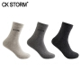 CK STORM 商务袜子 男士棉袜 3双装精梳棉银袜品牌LOGO纯色运动休闲短袜  均码