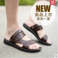 德国骆驼动感男鞋 新款男士凉鞋 真皮沙滩鞋 休闲鞋子男285617