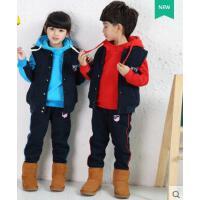 纯色气质韩版男女卫衣儿童英伦校服加厚保暖舒适 幼儿园园服三件套