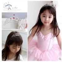 时尚精美红水钻皇冠发箍头饰发饰儿童女童皇冠儿童发箍