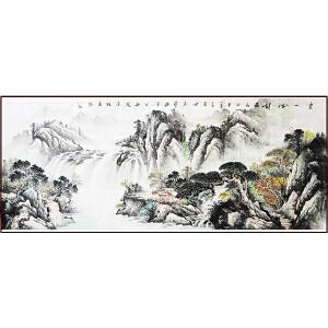 中国美术家协会会员  张葆桂 精品山水《云山神韵》