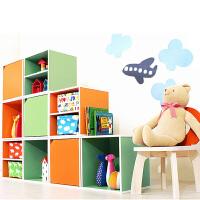 亿家达 简易书柜自由组合格子柜简约现代书架木收纳小柜子创意储物柜带门