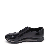 PRADA普拉达牛皮材质镂空元素男士系带布洛克鞋 支持礼品卡支付