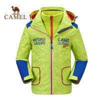 camel骆驼男女儿童户外时尚外套三合一两件套冲锋衣