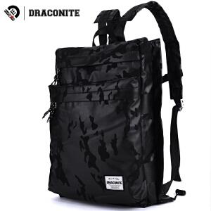 DRACONITE韩版迷彩双肩背包潮流时尚方形学院涤纶书包男女11029A