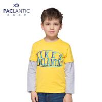 派克兰帝品牌童装  夏装 男童时尚圆领长袖T恤
