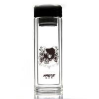 哈尔斯双层玻璃直身杯300ml玻璃水杯 HBL-300-14