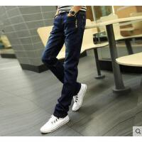男士小脚直筒牛仔裤 薄款 修身青少 年男长裤子潮流