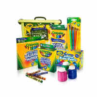 Crayola/绘儿乐儿童 可水洗绘画套装宝宝手指画颜料蜡笔涂鸦笔