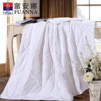 富安娜(FUANNA)全棉可水洗夏被空调被夏凉被 水洗棉 月下湖滨 1.8米床规格(230cm*229cm)白色