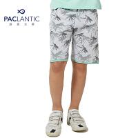 派克兰帝品牌童装 夏装男童户外印花针织五分裤 男童运动短裤
