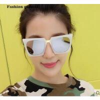 时尚个性大框粗框太阳镜 欧美潮牌方框 潮人眼镜简约舒适 防紫外线眼镜