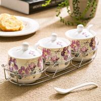 【当当自营】Evergreen爱屋格林美式陶瓷调味罐调料盒调味瓶三件套装创意家居厨房用品
